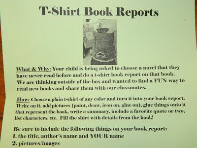 write a report on a book you never read