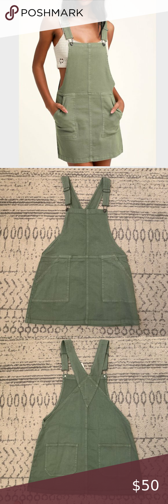 Sage Green Denim Overall Dress Denim Overall Dress Overall Dress Lulu Dresses [ 1740 x 580 Pixel ]