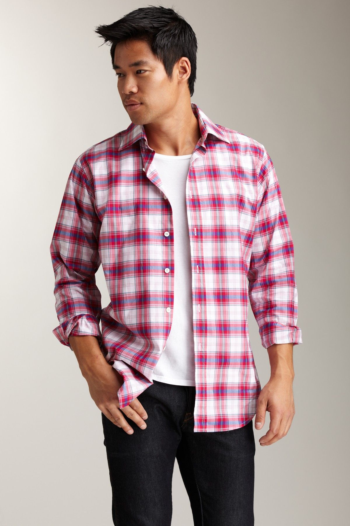 Flannel shirts 1990s  Red and Blue Plaid Shirt  Pinterest  Blue plaid and Products