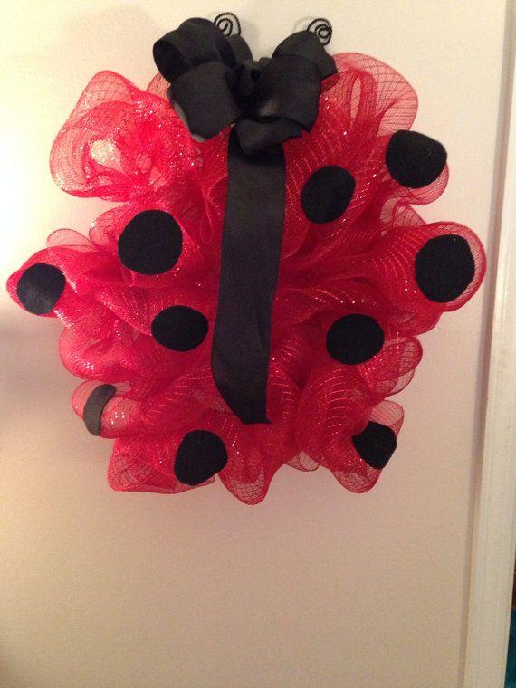 Deco Mesh Lady Bug by GlitzynDitzyDecoMesh on Etsy, $25.00