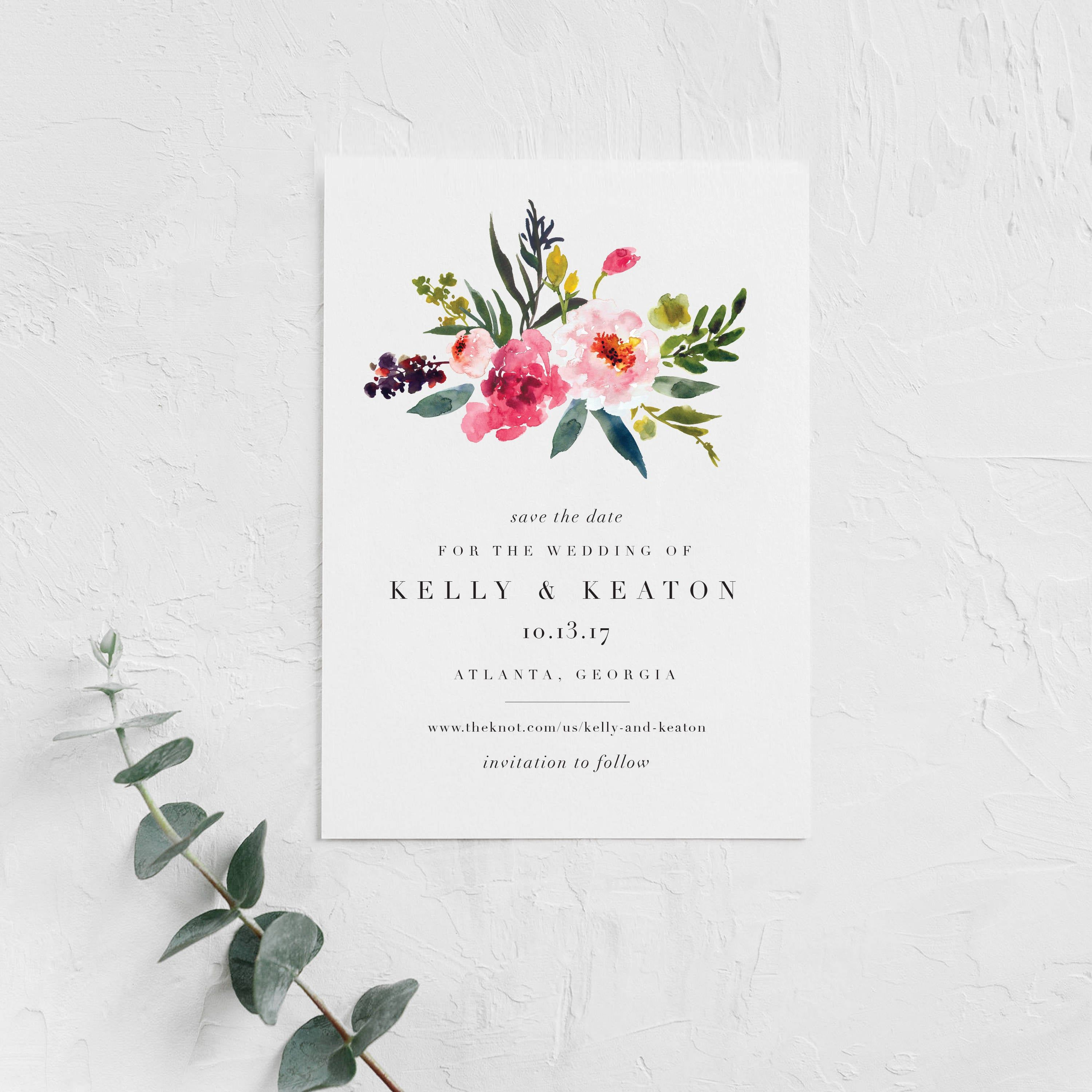 DEPOSIT Colorful Floral Save the Date Vibrant Save the Date Garden Save the Date Bright Floral Save the Date Flower Save the Date