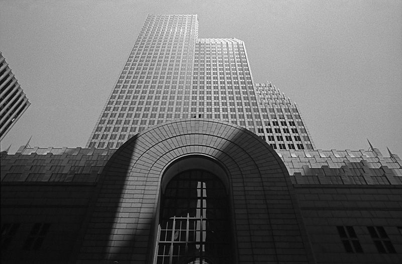 The Bank of America Building is located in Downtown Houston, Texas at 700 Louisiana Street. The building was completed in 1983 and was designed by Phillip Johnson and John Burgee. The building is 56 stories high and has borrowed architecture concepts from Renaissance style with a modern background. Other sourceshttp://www.700louisiana.com/building.html