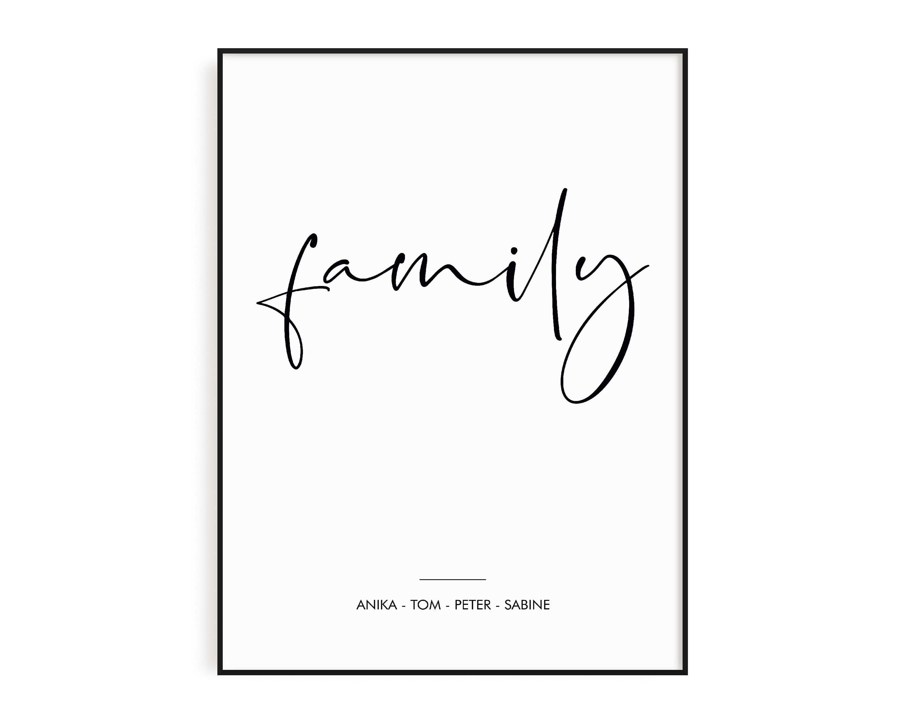 Living Room Poster Personalized Black And White Poster Gift For Family Poster Family Poster Love Poster Scandinavian Poster Bilder Zum Ausmalen Poster Drucken Poster
