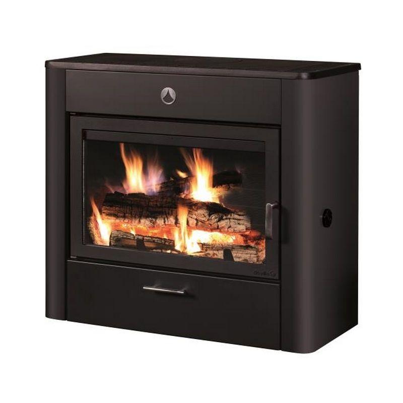 Poele A Bois 12kw Noir C07783 06 B Deville Home Appliances
