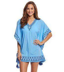 Cabana Life Womens Moroccan Mosaic Tunic Swim Cover Up