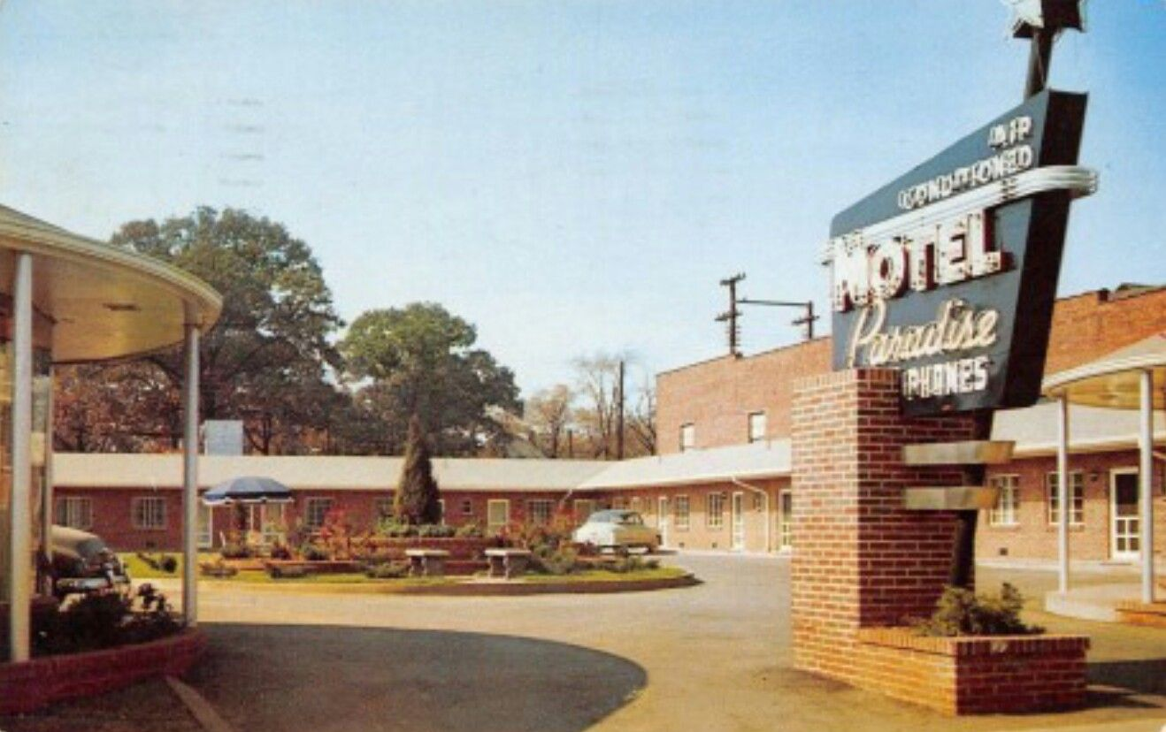 midcenturymotels Motel, Room tiles, Continental breakfast