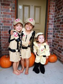 Nellie \u0026 Phoeb\u0027s Lets Party Kids Halloween Costumes, matching kids  costumes for 3 kids, Ghostbusters