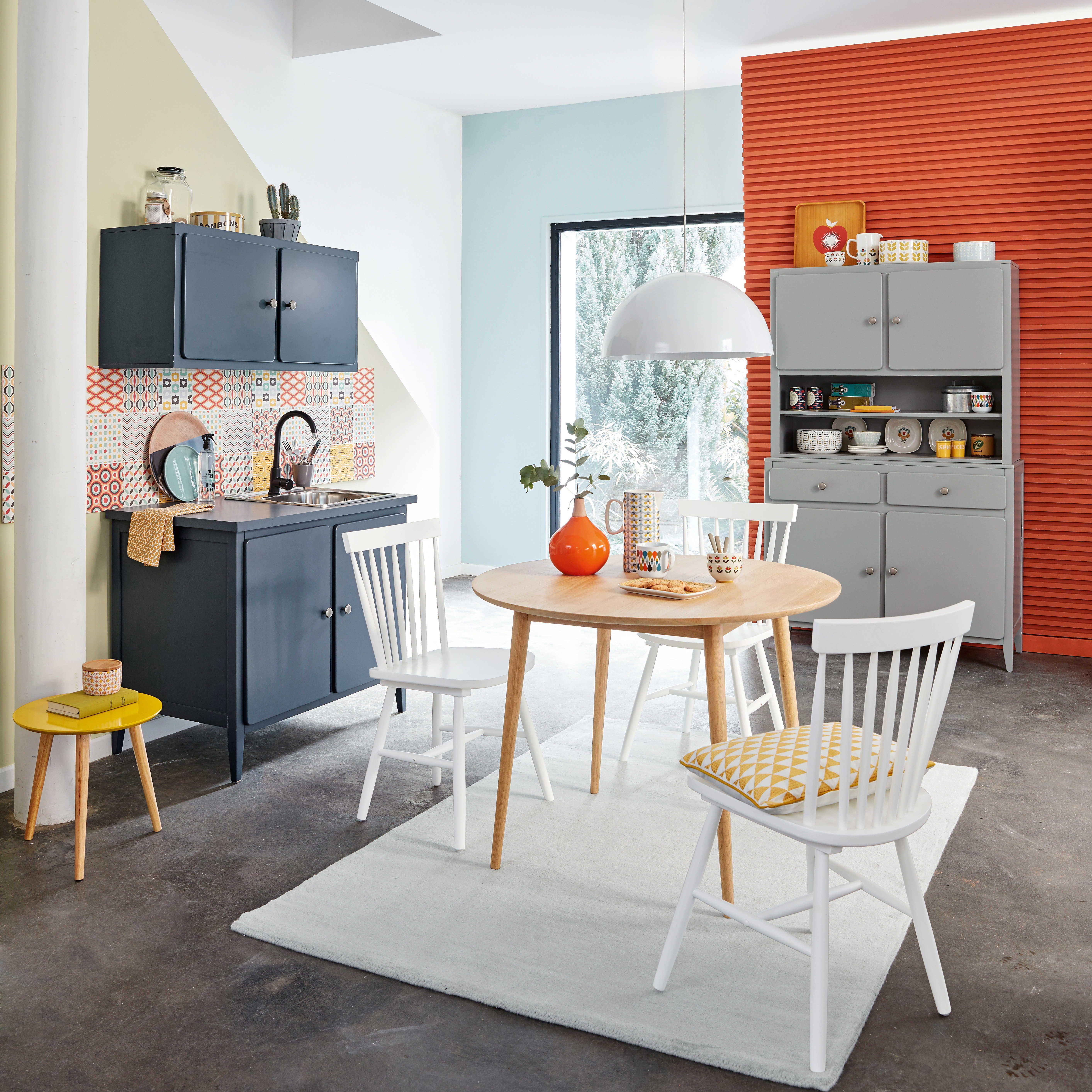 Vaisselier Portes Tiroirs Gris Maisons Du Monde Maison Du - Maison du monde meuble de cuisine pour idees de deco de cuisine