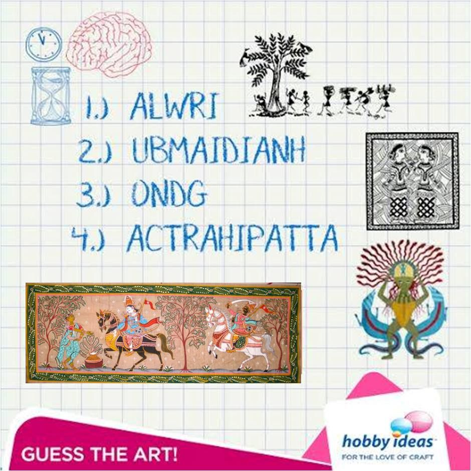 Guess These Jumbled Words Hint All Of Them Are Indian Traditional Art Forms Ps In Case You Ve Tried These Creative Arts And Crafts Arts And Crafts Crafts