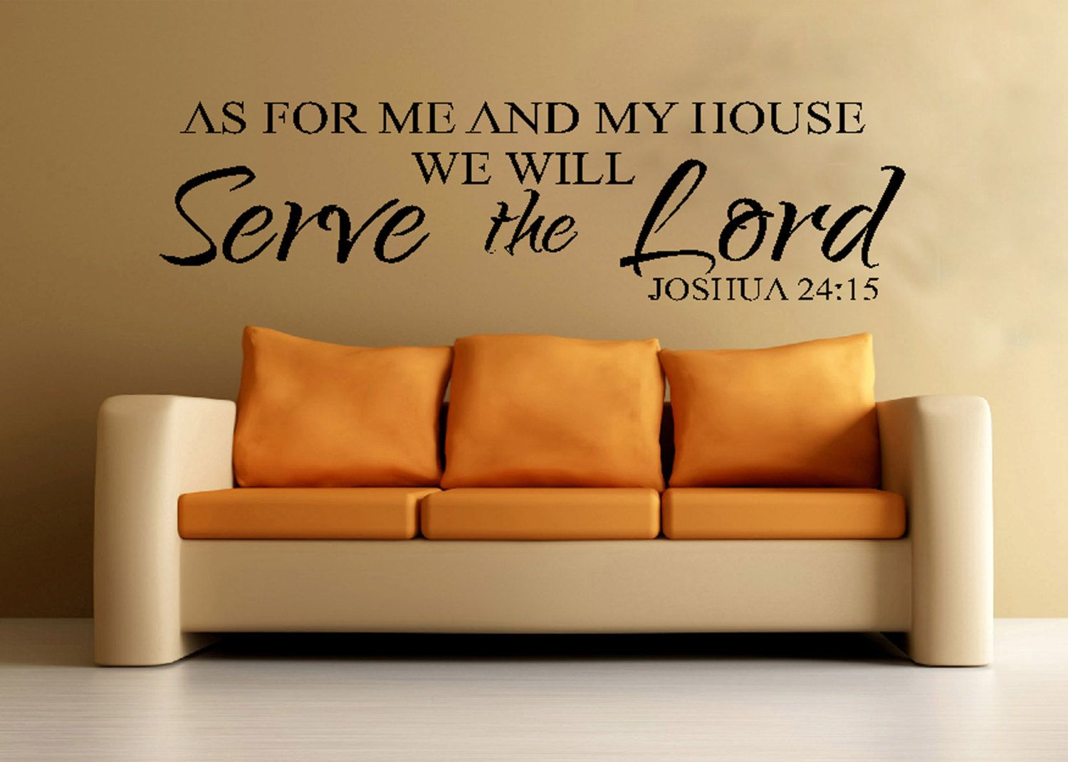 Scripture Wall Vinyl Bible Verse As For Me And My