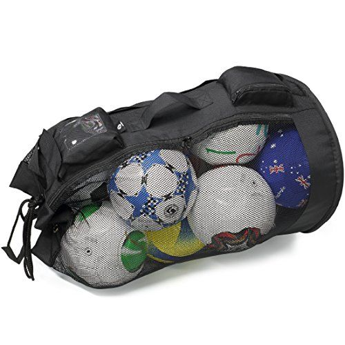 Basketball Martin All Purpose Mesh Ball Equipment Bag Football- Black Soccer