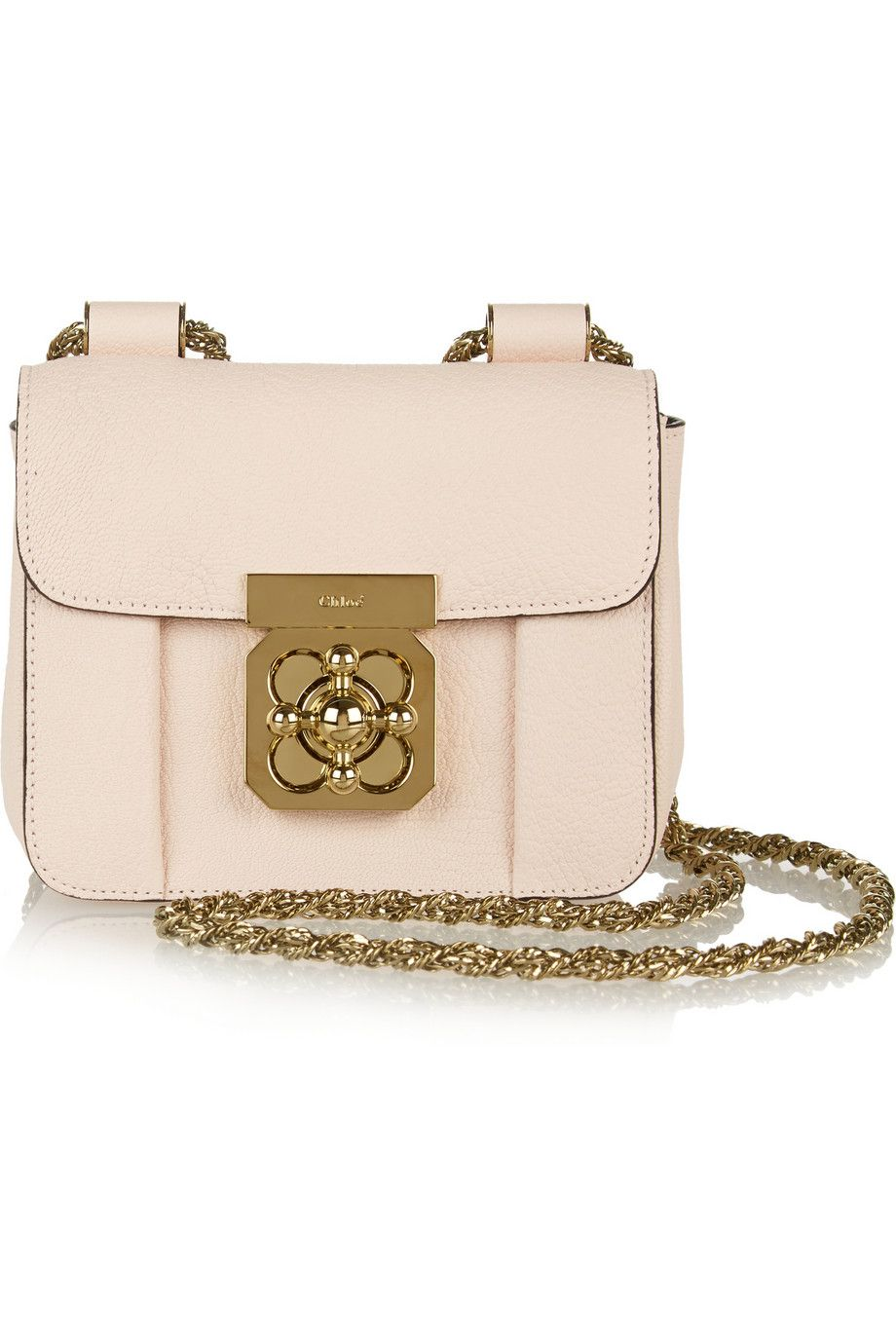 Chloé - Elsie mini textured-leather shoulder bag