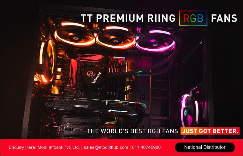 Riing Plus 12 RGB Radiator Fan TT Premium Edition 3 Pack/Fan