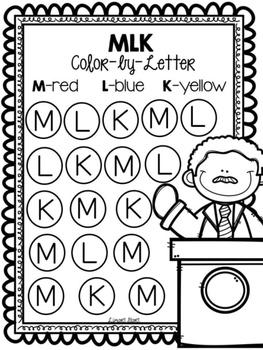Martin Luther King Jr. Letter Work FREEBIE King jr