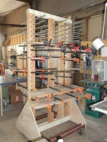 My Custom Clamp Glue Up Station My Woodshop Garage