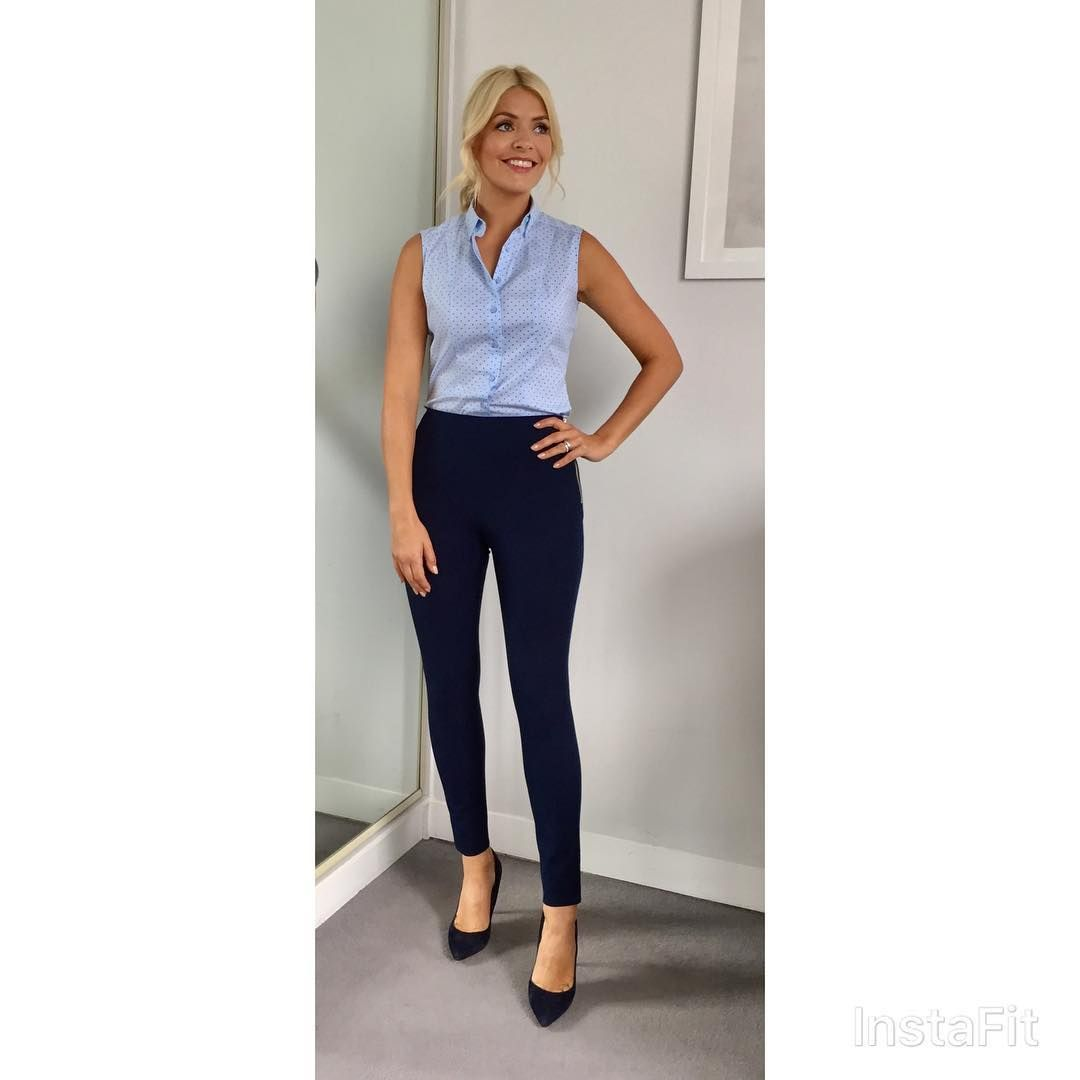 Holly Willoughby's chic Hobbs trousers are the perfect wardrobe staple for autumn photo