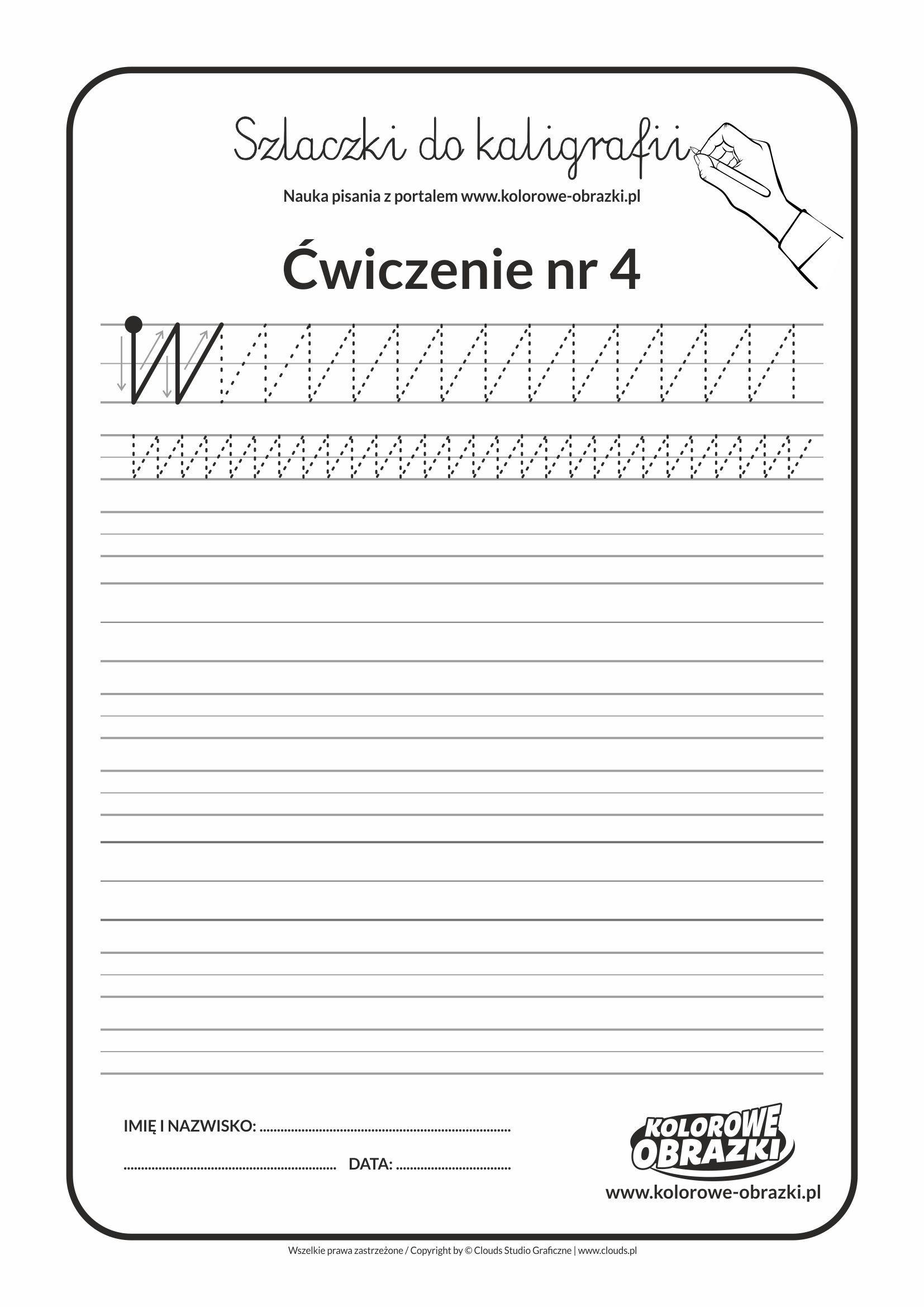 Kaligrafia Dla Dzieci Cwiczenia Kaligraficzne Szlaczki Cwiczenie Nr 4 Dla Dzieci Dzieci I Kaligrafia