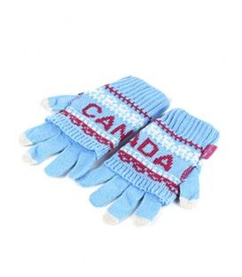 Blue & Fuchsia Canada 2 In 1 Gloves Winter Collection 2016