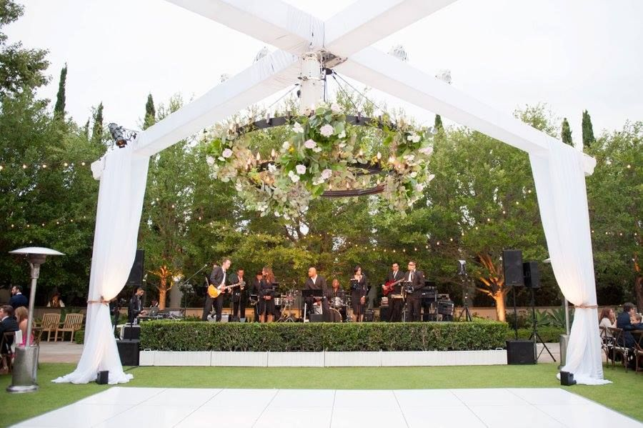 Signature Party Rentals truss covered lighting and dance