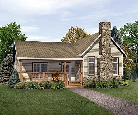 Plan 22080sl Vacation Cottage Or Retirement Plan In 2021 Ranch Style House Plans Country Style House Plans Vacation House Plans