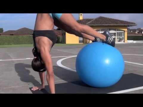 Swiss Ball Workout with Rebecca Martinez in Espanol.