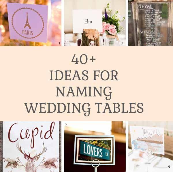 Wedding Table Names So Many Ideas Wedding Table Names