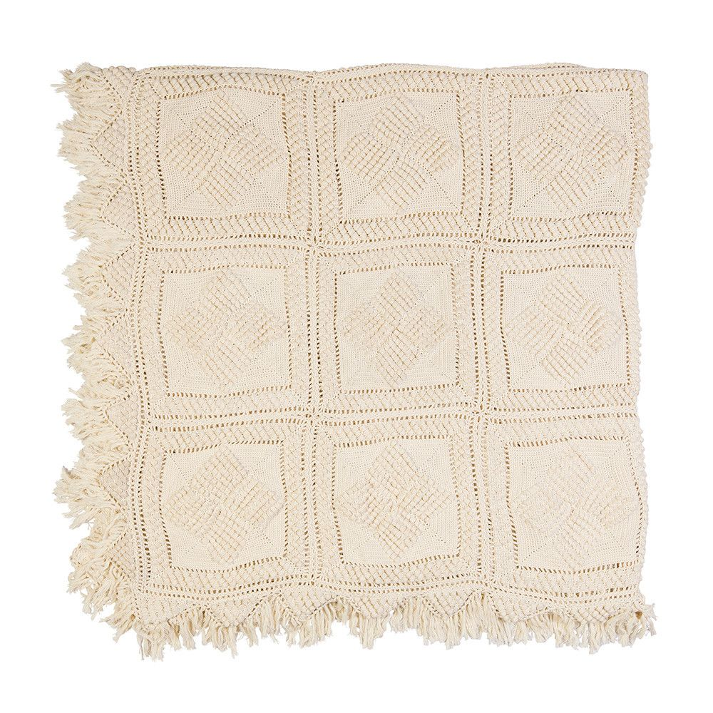 Cream hand crochet throw – Shelter 7 | Natural* | Pinterest