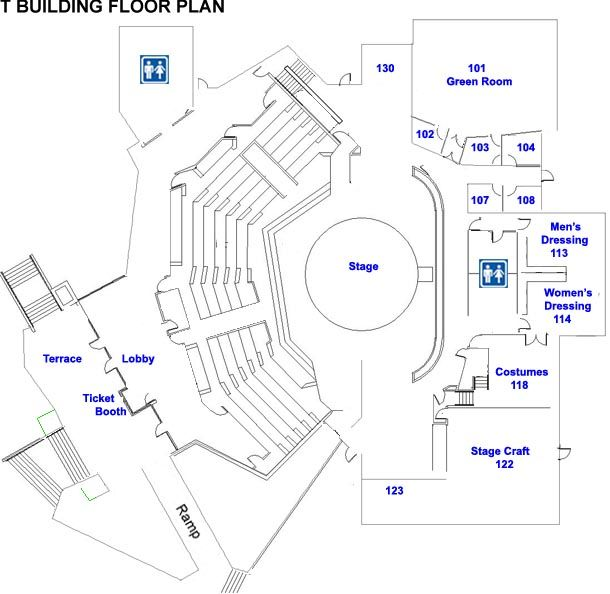 Floor Plan Template For Theatre  Modern Small House Plans Spanish