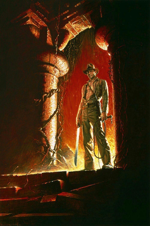 "Indiana Jones Temple of Doom 24/""x36/"" movie poster print"