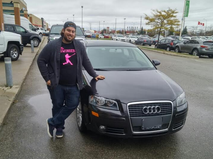 Congratulations to this happy customer with his purchase of a 2008 Audi A3 @autopdirect! . #autopdirect #autoplanetdirect #usedcars #happy #performanceautogroup #Brampton #audi #canada #ontario #fall2016 #autoplanet