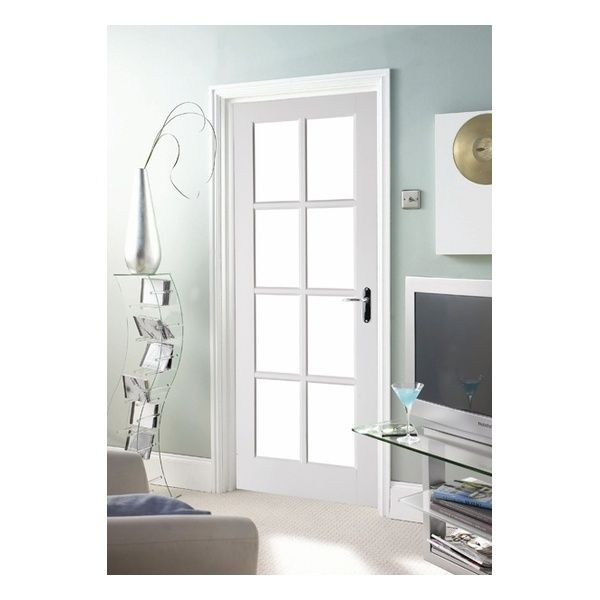 White Interior Doors Jeld Wen Avesta Internal White Primed 8 Light