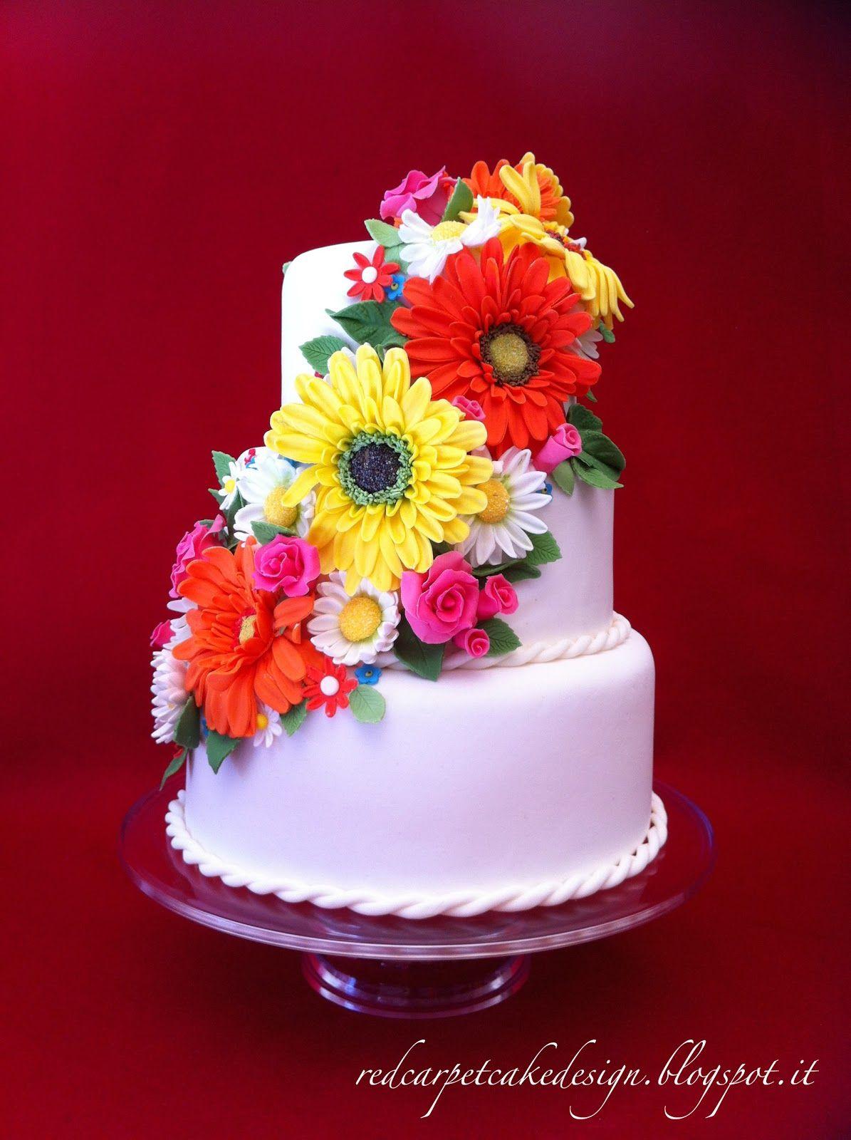 Spring Flowers Cake By Red Carpet Cake Design Red Carpet Cake