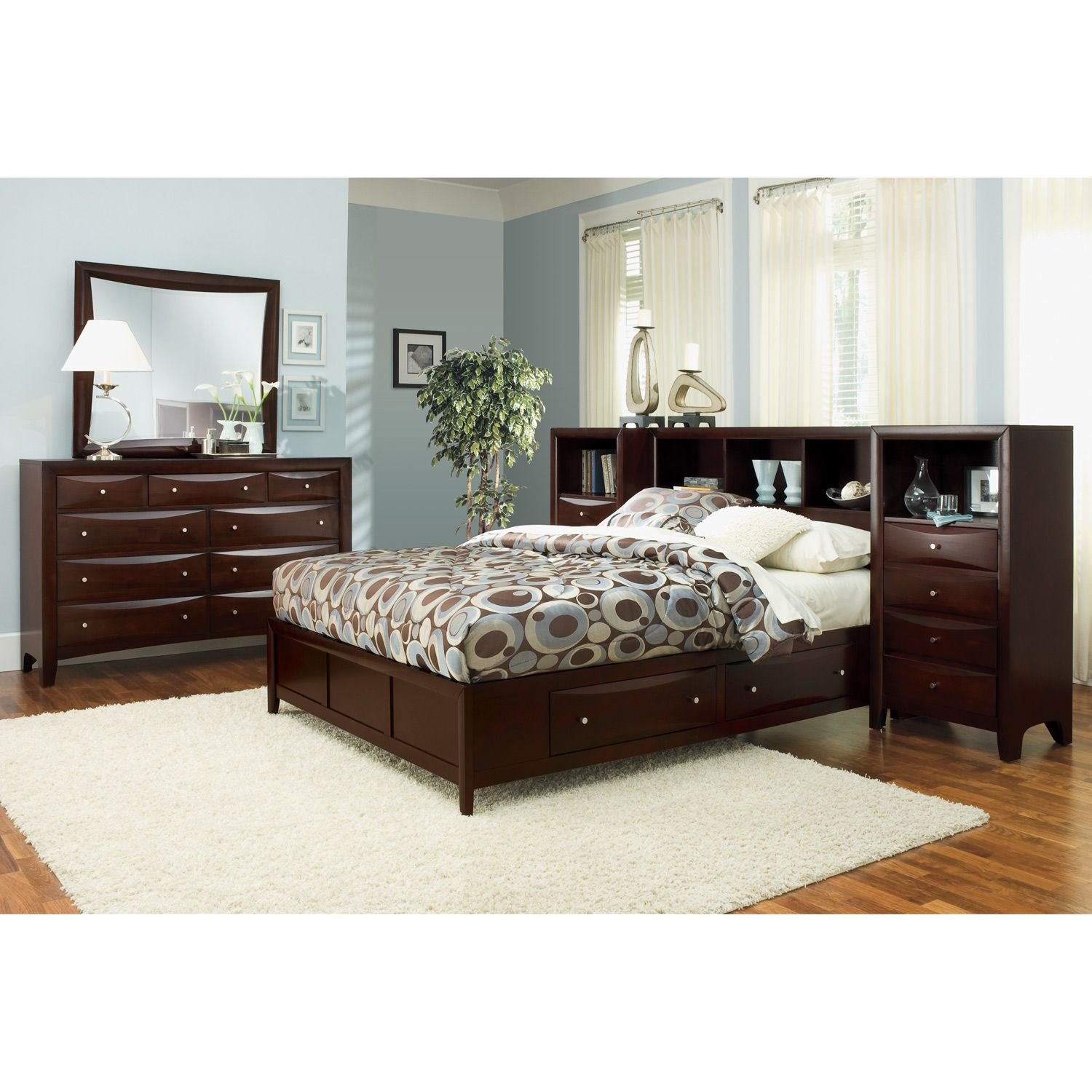 Bedroom Sets Value City clarion bedroom queen wall bed with piers - value city furniture