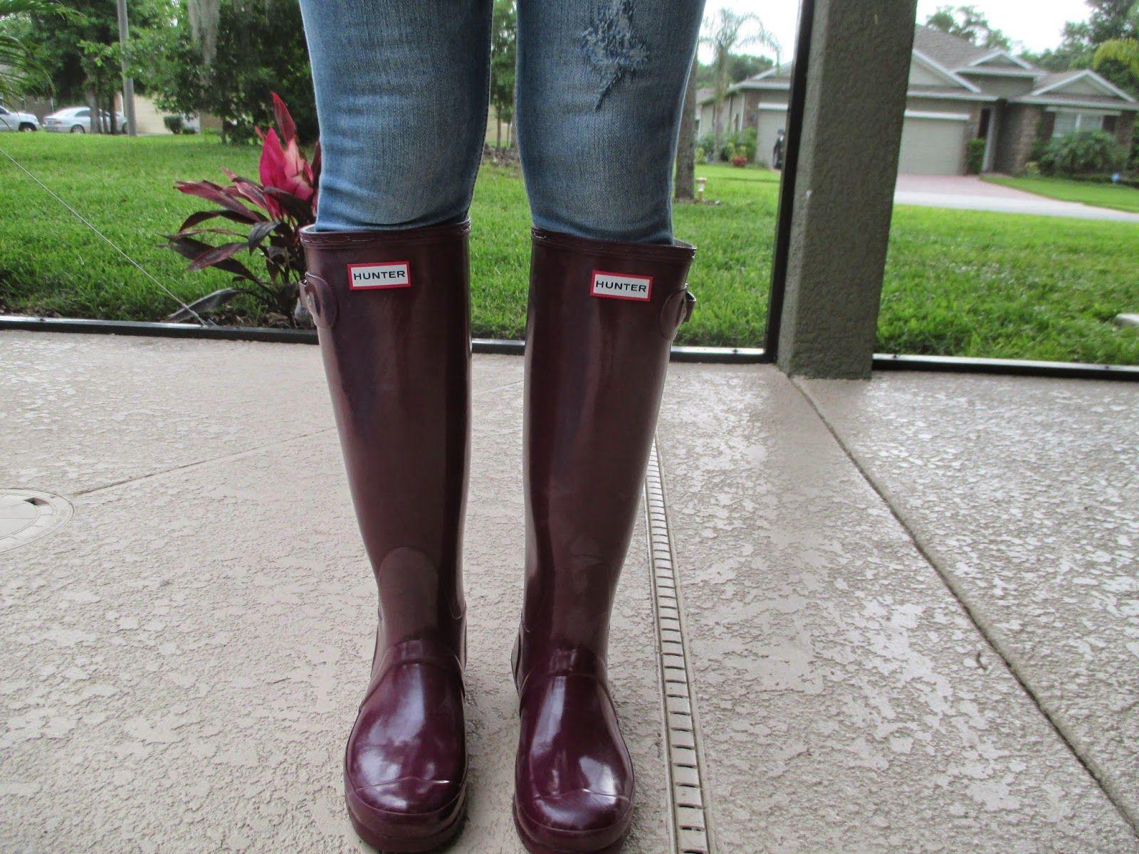 Hunter Rain Boots in Dark Ruby