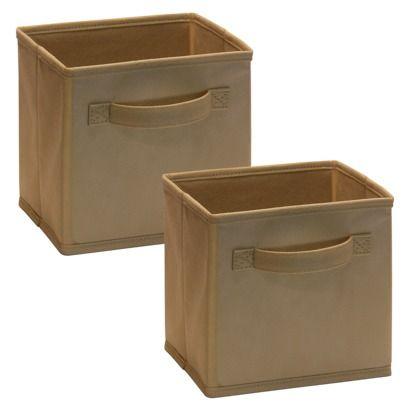 Closetmaid Mini Cubeicals 2 Pack Fabric Cube Storage Bins