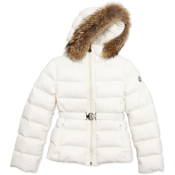 348029767 Moncler Angers Fur-Trim Quilted Down Coat ($695) ❤ liked on ...