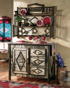 Tamarack Server & Hanging Shelf