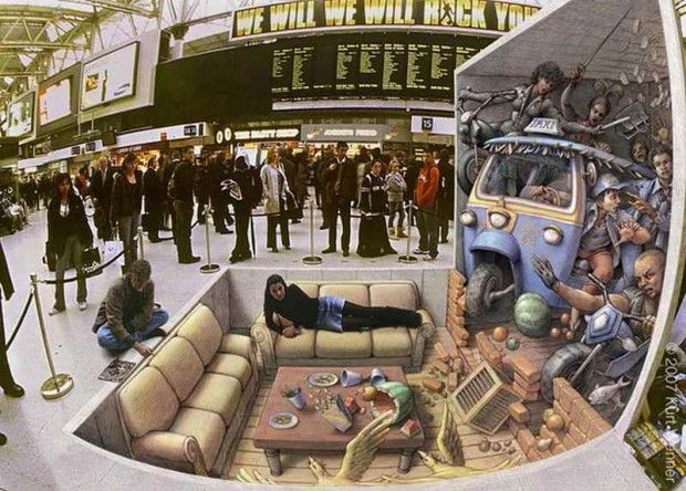 3D Street Art by Kurt Wenner 5