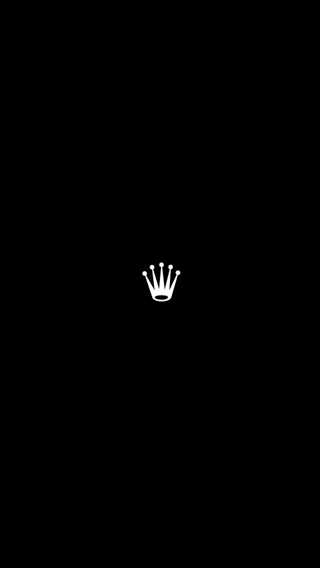 Iphone Rolex Crown Logo Black Wallpaper Wallpapers