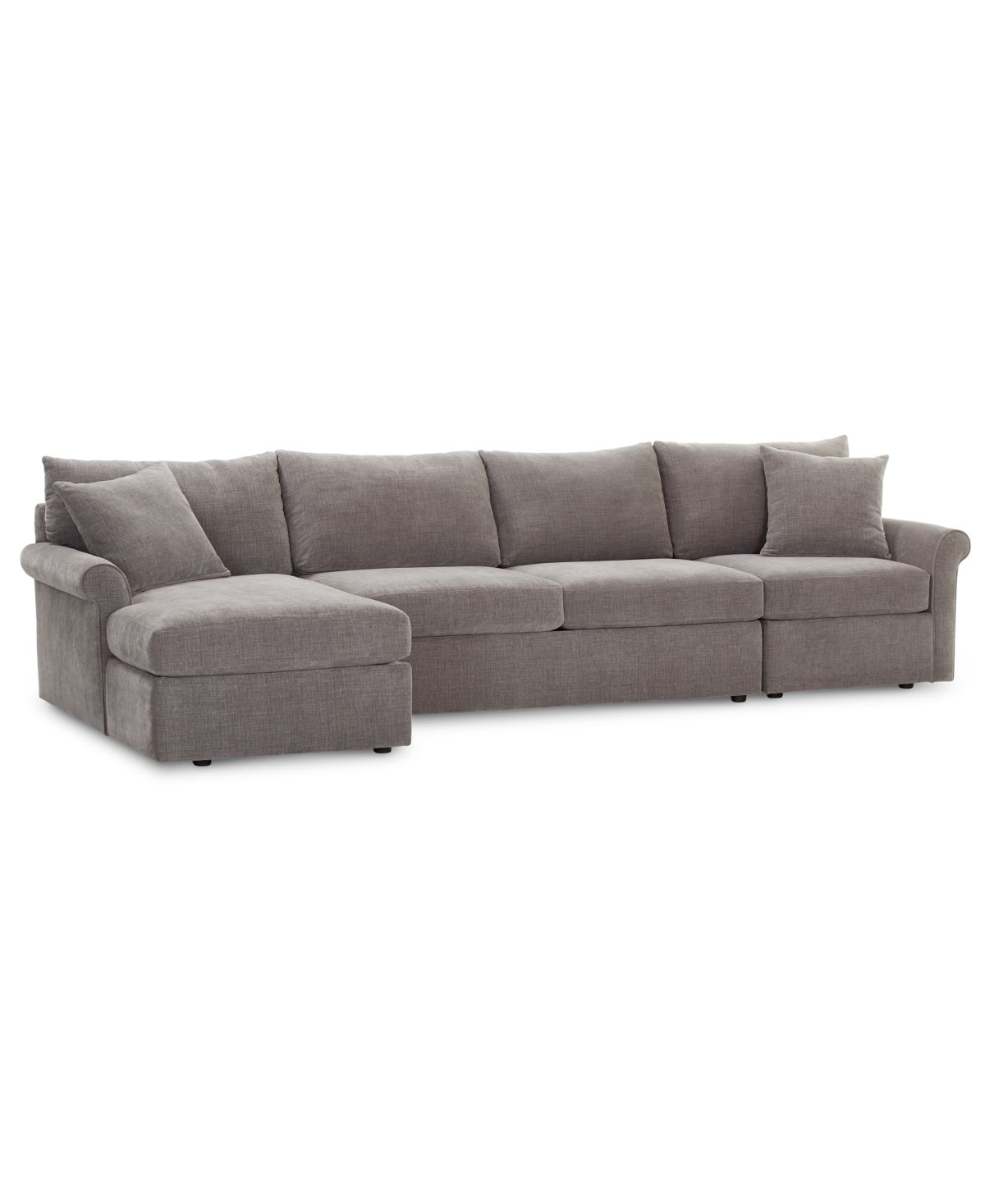 Furniture Wedport 3 Pc Fabric Sectional Sofa With Armless Apartment Sofa And Chaise Created For Macy S Reviews Furniture Macy S In 2020 Fabric Sectional Sofas Fabric Sectional Sectional