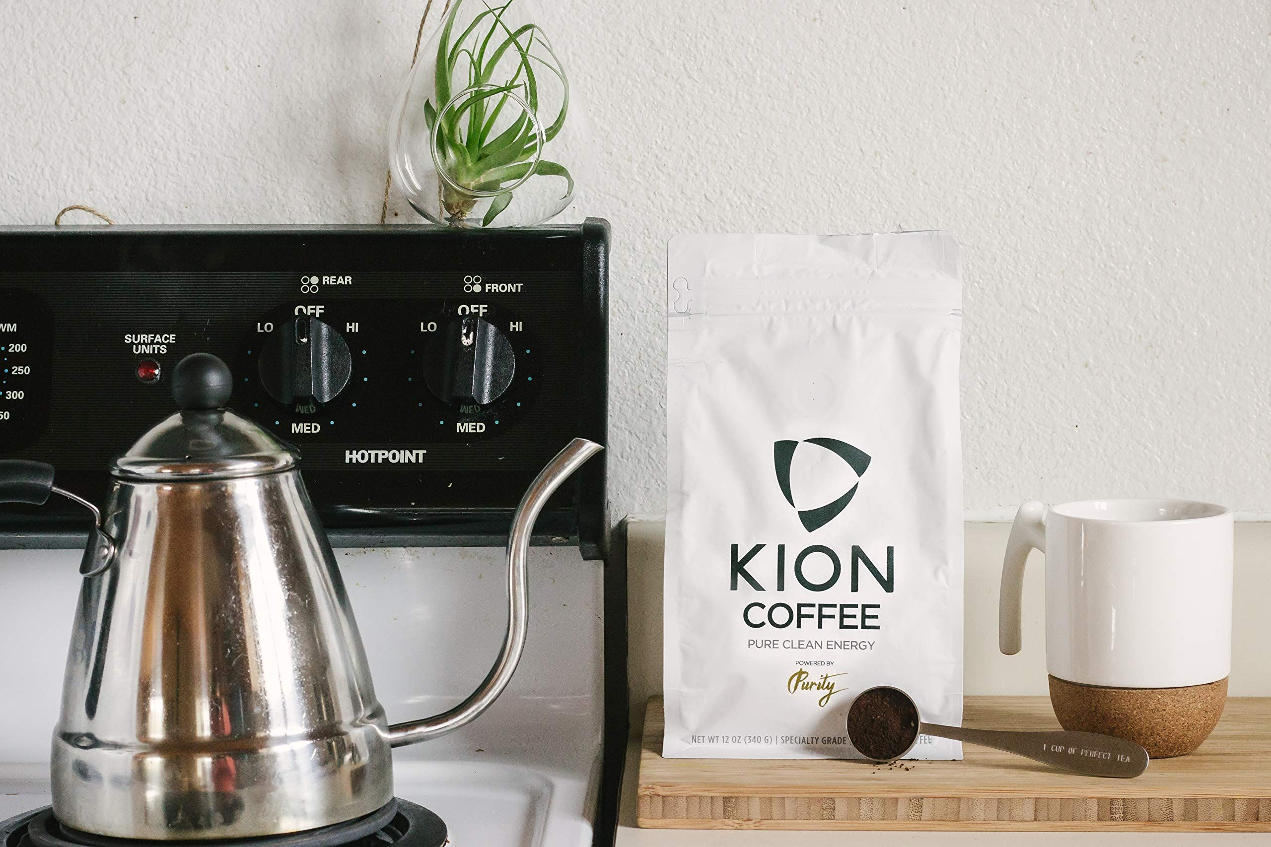 Kion organic whole bean coffee designed for taste purity