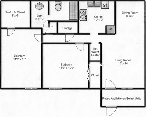 minimum size for kitchen Google Search small house – Kitchen Square Footage