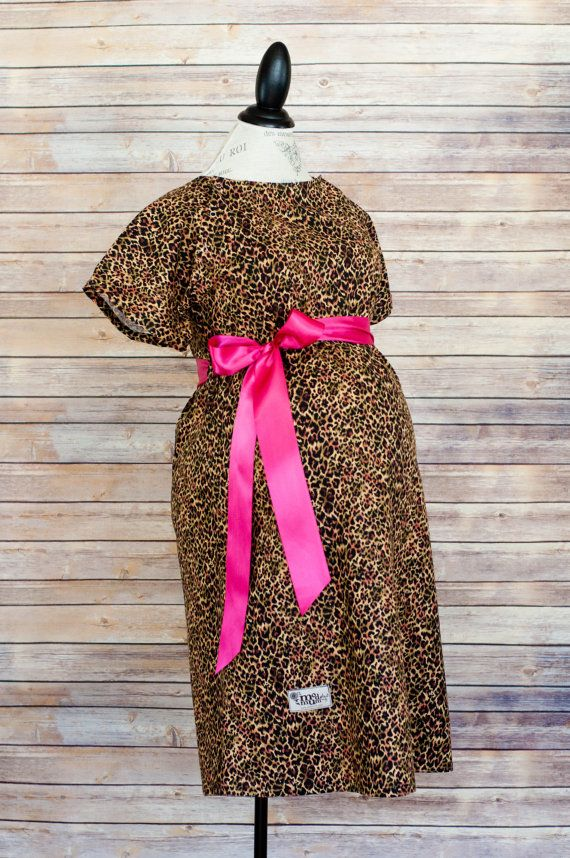 Leopard/Cheetah Maternity Hospital Gown! Super cute hospital pics ...