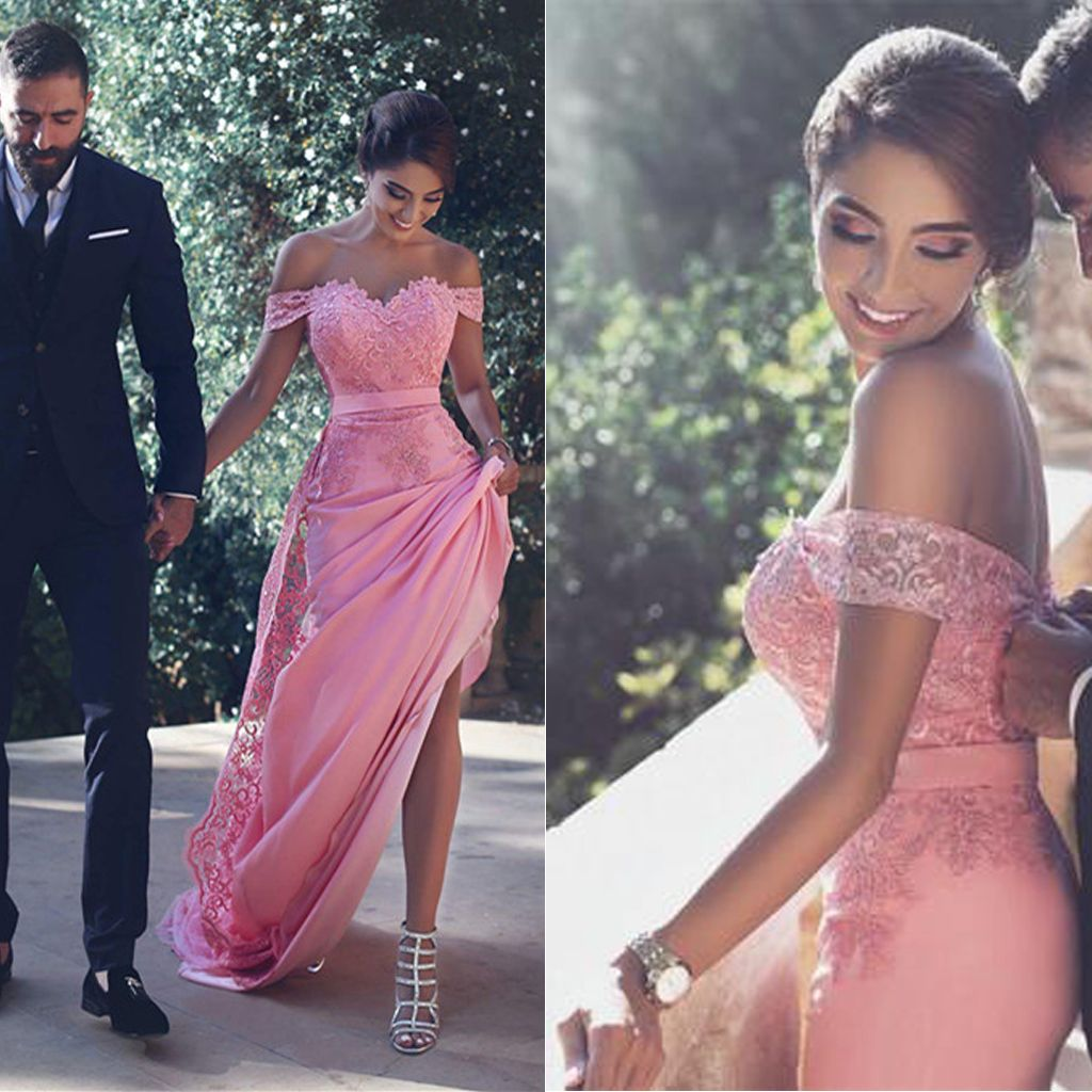 Off The Shoulder Prom Dress,Lace Prom Dress,Satin Prom Dress,Fashion ...