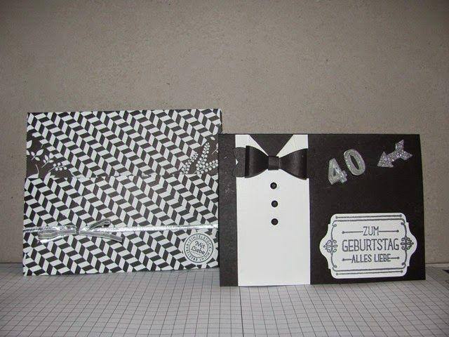 Petra hansen geburtstagskarte f r einen mann zum 40 geburtstag petra 39 s karten pinterest - Geburtstagskarte basteln mann ...