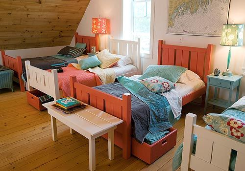 four beds in a row maine cottage blog cottage coastal style rh pinterest com maine cottage trundle beds maine cottage bedding