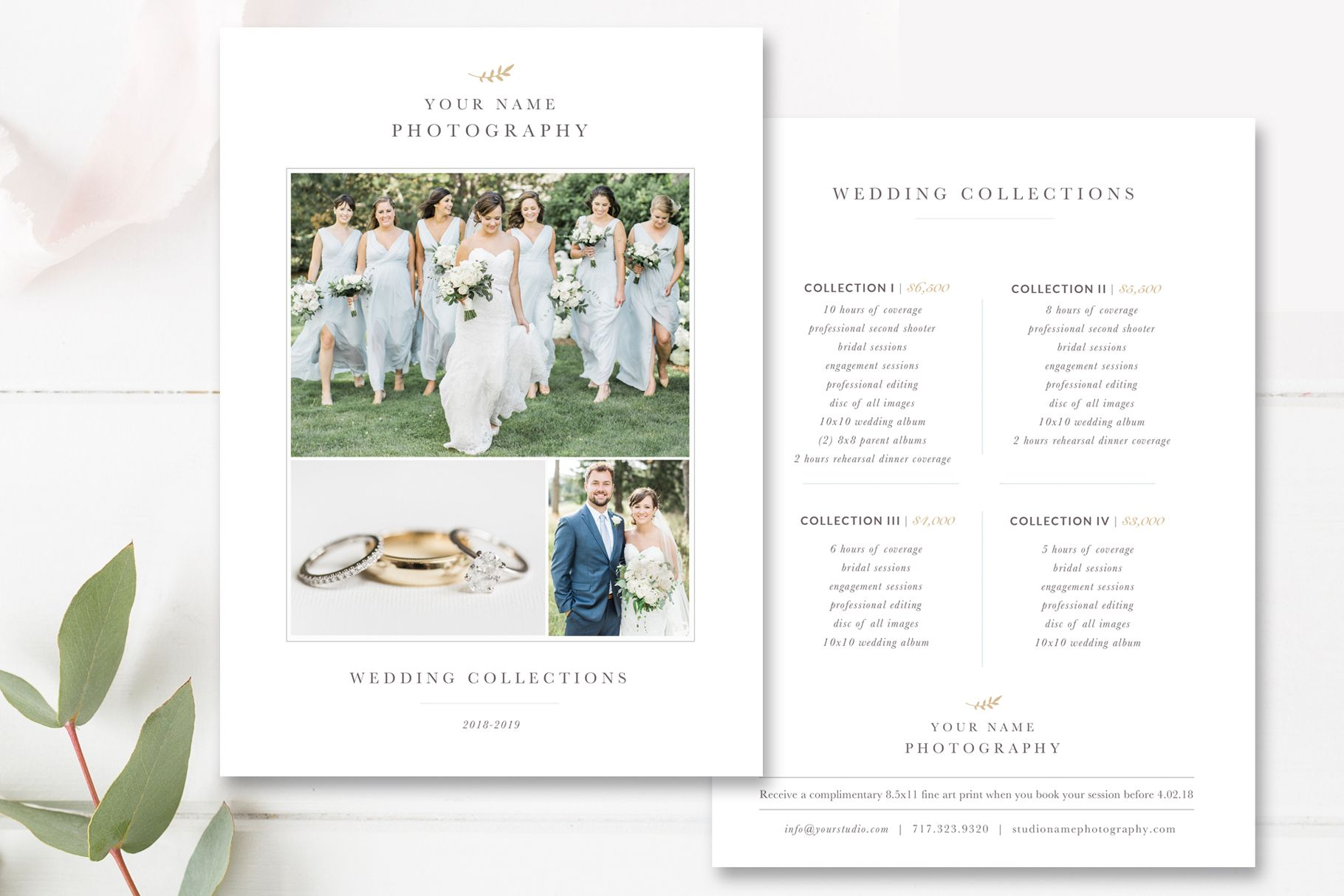 Classic Price List For Professional Wedding Photographers Photography Pricing Template Photoshop Template By Stephanie Design Clip Art Food Design