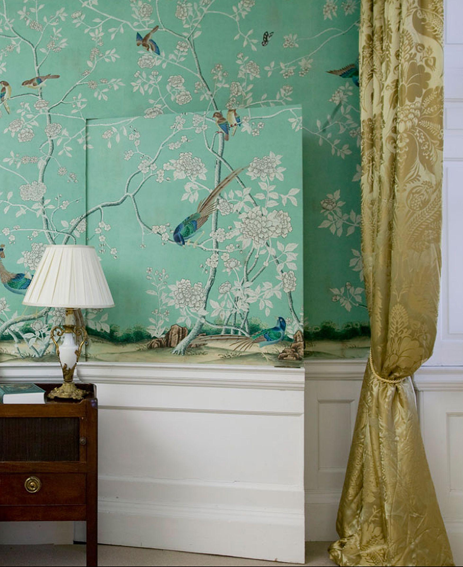 Chinoiserie wallpaper earlham design in full custom for Chinoiserie design