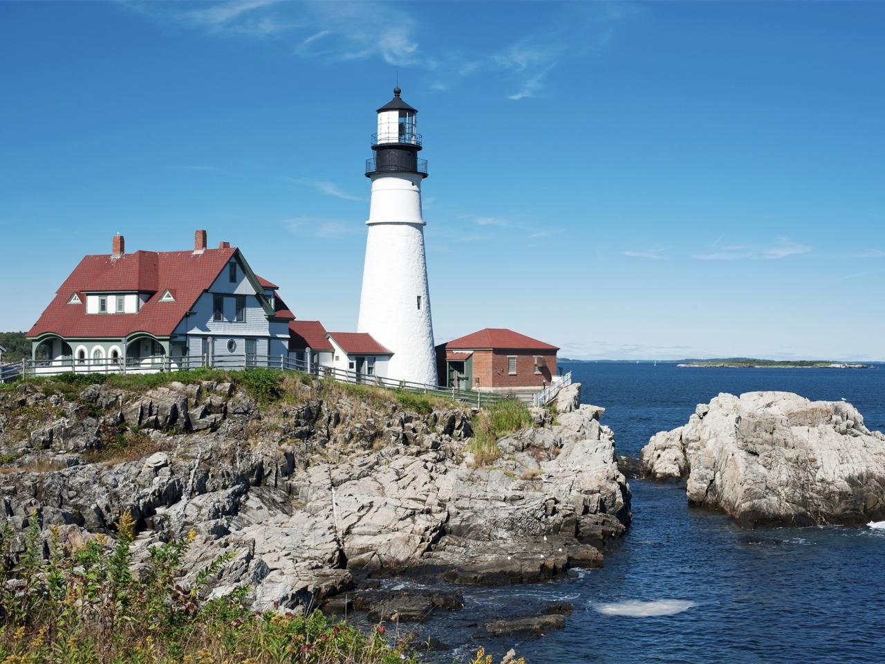 States Landmarks Head Light States And Lighthouse - 50 states in famous landmarks