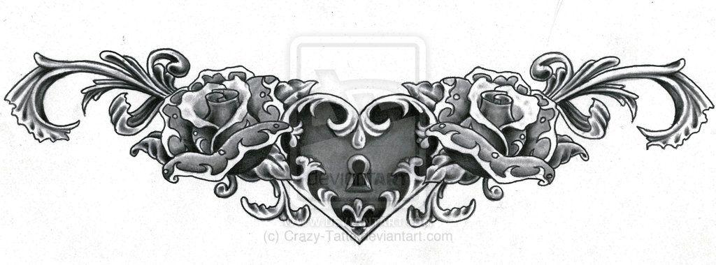 Lower Back Rose Tattoos